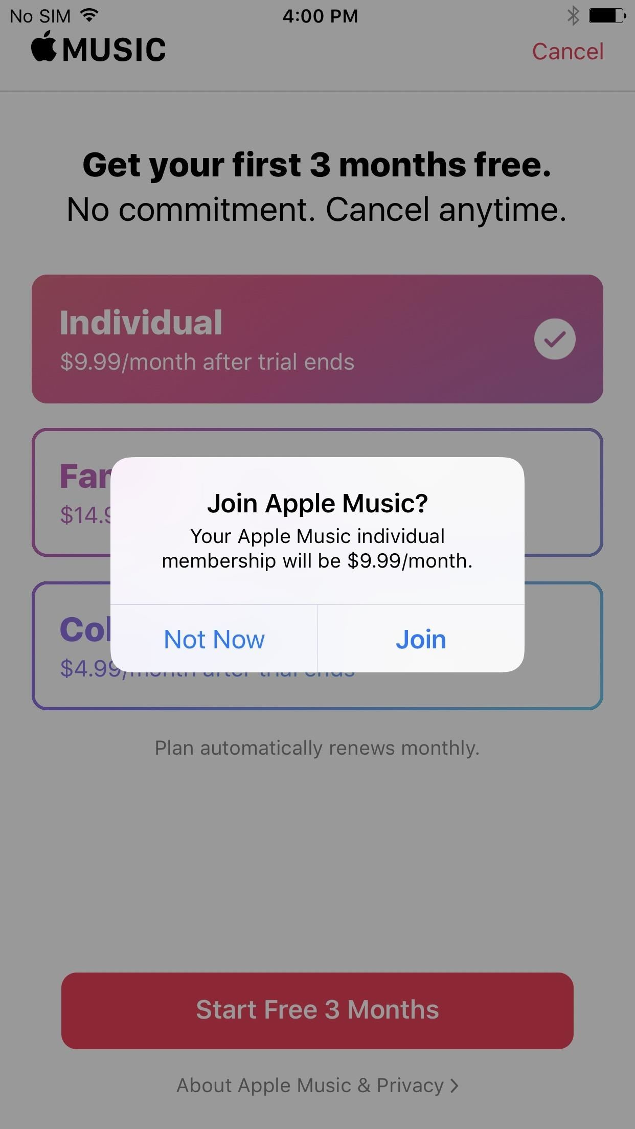 Apple music free for a year