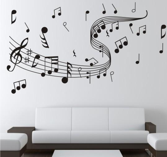 Wall painting related to music