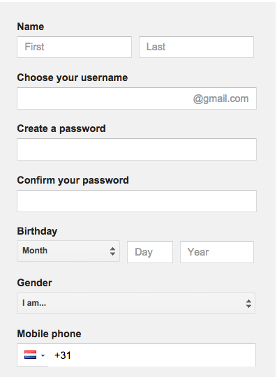 Gmail sign up new account