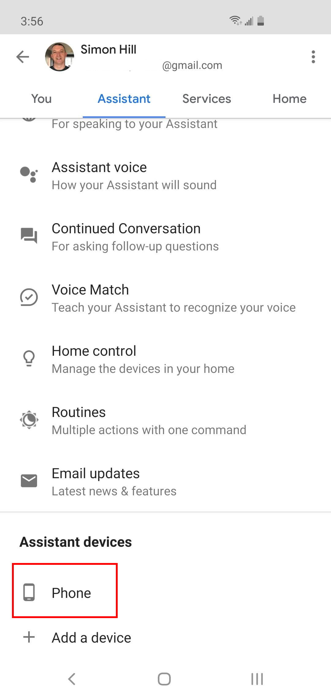 How to turn on google assistant voice