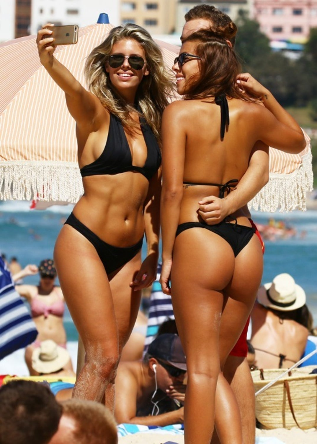 Hot babes in the beach