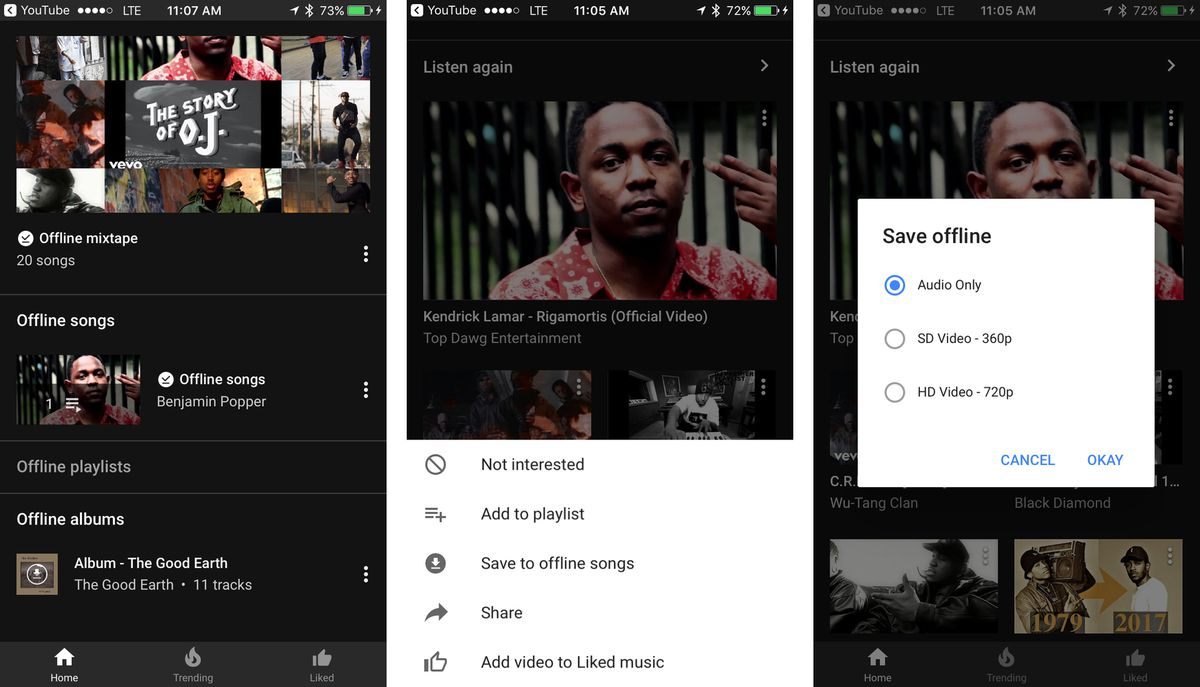 How to use youtube music offline