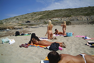 Nude matures on the beach