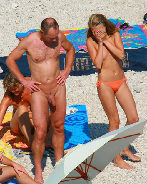 Teen daughter naked with dad
